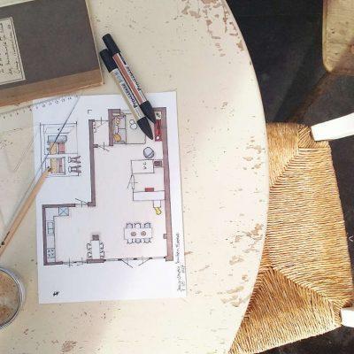 interieurontwerp-tekening-plattegrond-kop-koffie