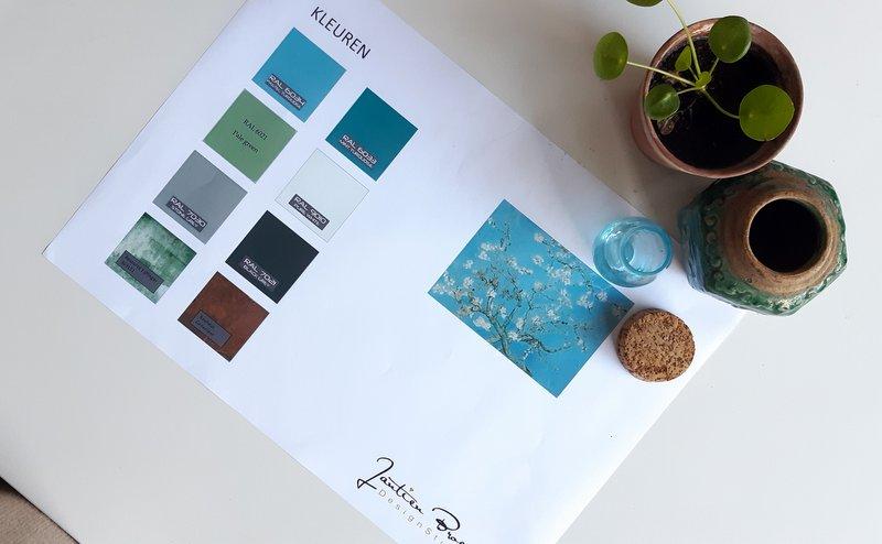 Kleuradvies woning Huissen interieurplan