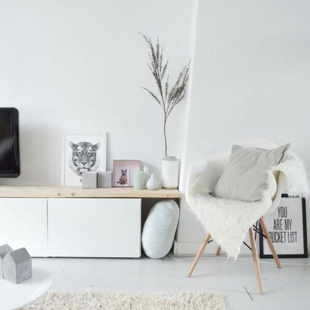 tv kast met underlayment plank DIY
