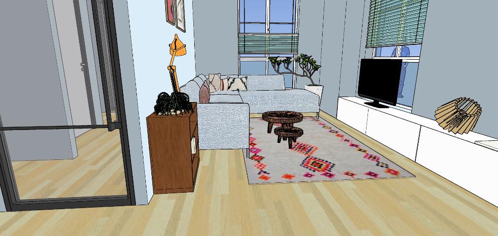 3d beelden, interieur, sketchup, woonkamer, nijmegen