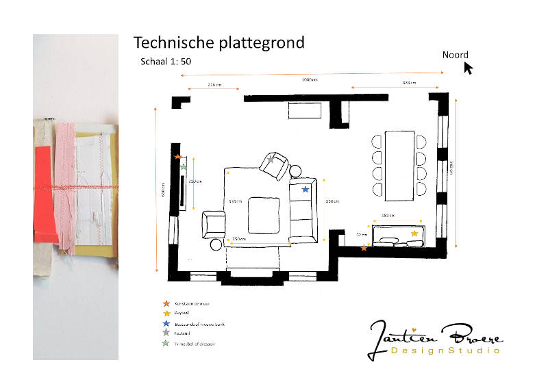Technische plattegrond, interieur, woning, Heilig Landstichting, indelingsadvies, herenhuis