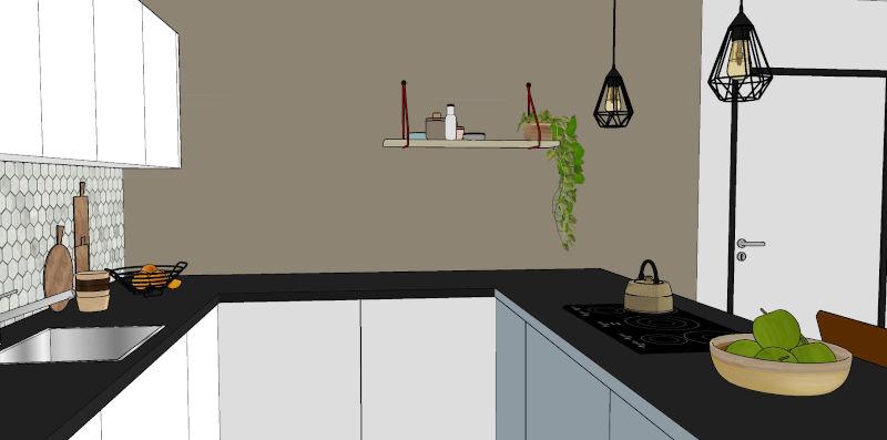Interieurontwerp keuken appartement