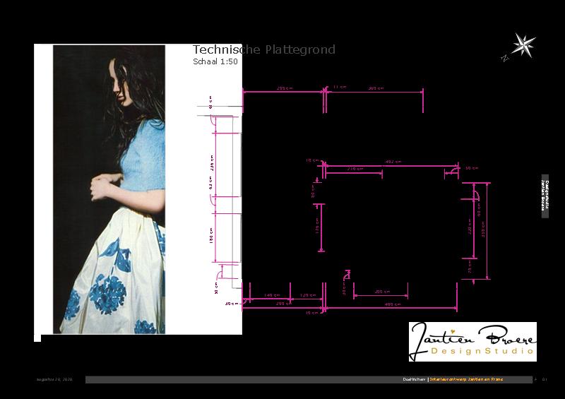 Technische plattegrond interieurplan Doetinchem