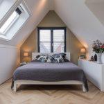 Interieurontwerp, zolder, werkkamer, slaapkamer, maatwerkkasten