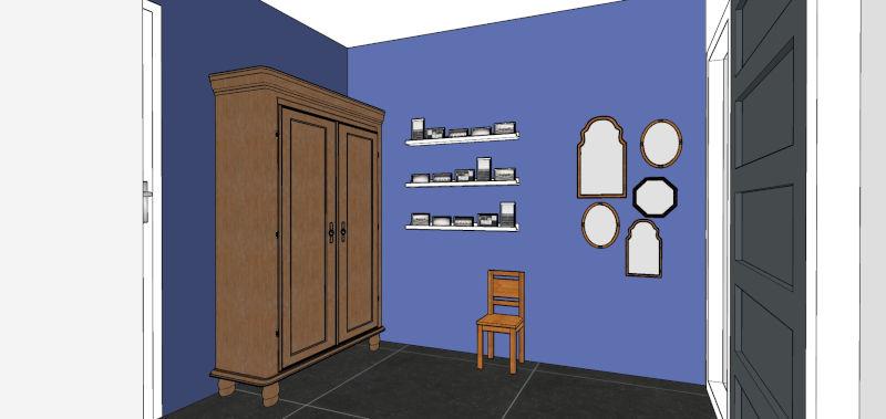 Kleuradvies, woonhuis, Gelderland, Little Greene, Mazzarine, blauw, duurzame verf