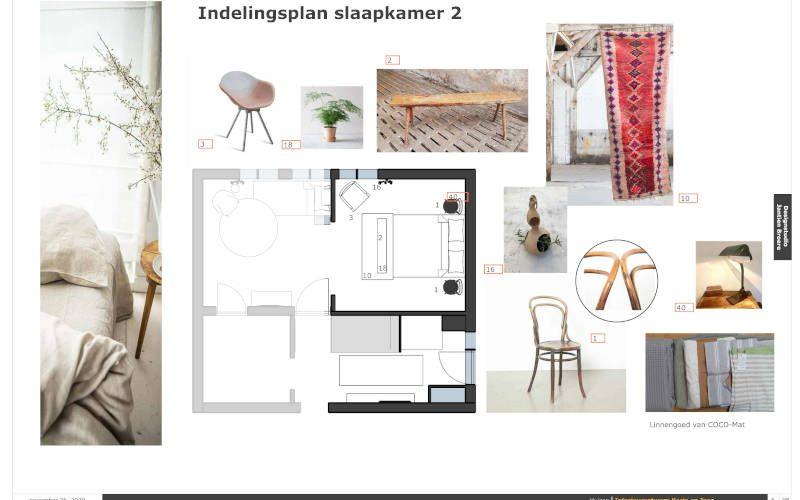 Interieurontwerp met volledig duurzame meubels en materialen