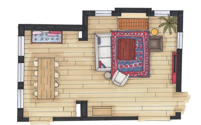 Interieurplan van duurzaam woonadvies