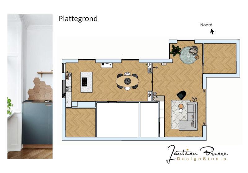 plattegrond interieurontwerp nieuwbouw woning binnenhuisarchitect