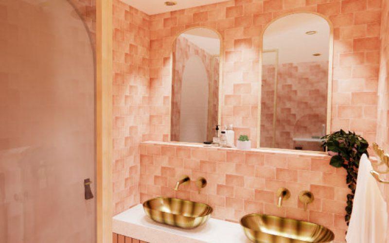 Render interieuropdracht van Marit Roekevisch vakantiebungalow badkamer
