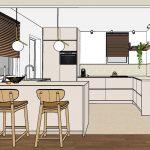 Interieurontwerp SketchUp verbouwing keuken